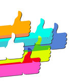 Like - social network symbol Stock Images