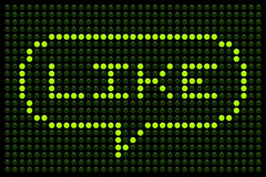 Like Speech Bubble on a LED Display Board Royalty Free Stock Image
