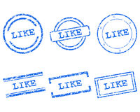 Like stamps Royalty Free Stock Photo