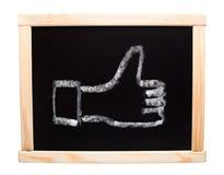 Like symbol drawn on blackboard Stock Photo