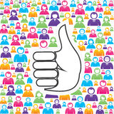 Like symbol with in group of people Royalty Free Stock Photos