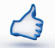 Like symbol isolated on white background Stock Images