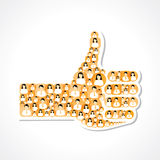 Like symbol made with colorful male and female icons Stock Photo