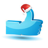 Like symbol with santa claus hat Royalty Free Stock Image