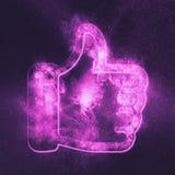 Like symbol. Like sign. Abstract night sky background royalty free illustration