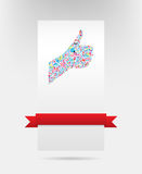 like symbol and social network card design Royalty Free Stock Photo