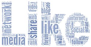 Like symbol in tag cloud on white Stock Image