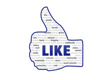 Like symbol - Thumb Up Stock Photo