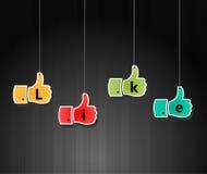 Like symbol, thumb up applique, vector illustratio. I have created Like symbol, thumb up applique, vector illustration stock illustration