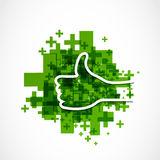 Like and thumb up design Stock Photo