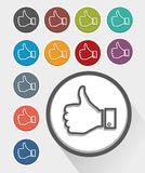 Like thumb up vector illustration