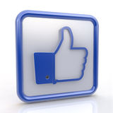 Like. Thumb up sign. royalty free stock image