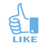 Like thumb up symbol Royalty Free Stock Images