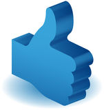 Like Thumbs Up. 3D like thumbs up graphic royalty free illustration