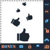 Like, Thumbs Up icon flat vector illustration