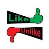 Like-unlike Stock Images