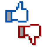 Like and unlike. Symbols over white background Royalty Free Stock Photo