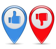 Like and Unlike Buttons. Illustration of Like and Unlike Buttons Royalty Free Stock Photo