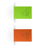 Like and unlike icon. As tump up and down hand icon Royalty Free Stock Images