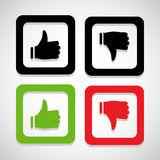 Like and unlike icon great for any use. Vector EPS10. Stock Photos