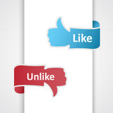 Like and unlike icons. Royalty Free Stock Image