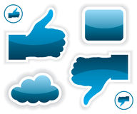 Like and unlike icons illustration Stock Image