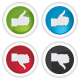 Like and unlike icons Royalty Free Stock Image