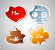 Like and unlike stikers. Royalty Free Stock Image