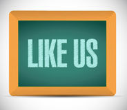 like us board sign concept illustration Royalty Free Stock Images