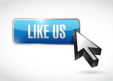 like us button sign concept illustration Stock Image