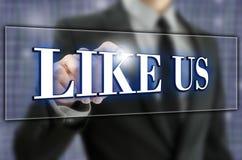 Like us Stock Photos