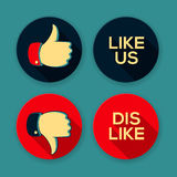 Like us and Dislike symbols Royalty Free Stock Image