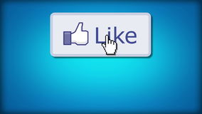 Like Us On Facebook stock illustration