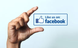 Like us on Facebook icon stock photo