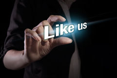 Like us Royalty Free Stock Images