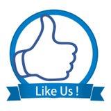 Like us vector illustration