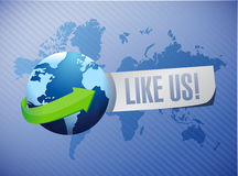 Like us international sign concept Royalty Free Stock Photography