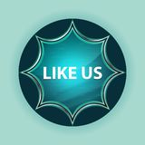 Like Us magical glassy sunburst blue button sky blue background vector illustration