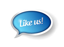 Like us message communication bubble illustration Stock Photo