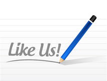 Like us message sign concept illustration Royalty Free Stock Images
