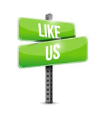 like us road sign concept illustration Royalty Free Stock Photography
