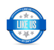 like us seal sign concept illustration Royalty Free Stock Photos