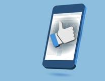 Like Us Social Network Scene Royalty Free Stock Images
