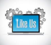 Like us tech computer sign concept Royalty Free Stock Image