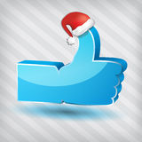 Like vector symbol with santa claus hat Royalty Free Stock Images