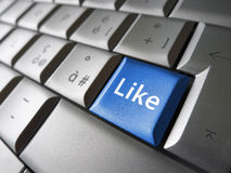 Like Web Social Network Facebook Key Stock Photos