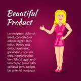 Like woman! Beautiful product! Vector illustration! royalty free stock photography
