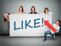 Like word on banner Royalty Free Stock Photography