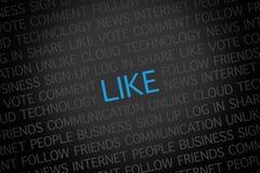 Like word cloud Stock Image