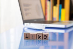 LIKE word online Royalty Free Stock Photo